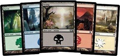 100 MTG BASIC LAND MAGIC THE GATHERING CARDS COLLECTION - Lot Set 20 Each Mana