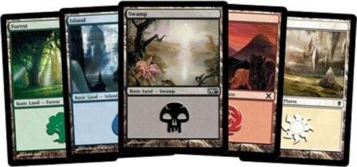 200 Mtg Basic Land Magic The Gathering Cards Collection - Lot Set 40 Each Mana