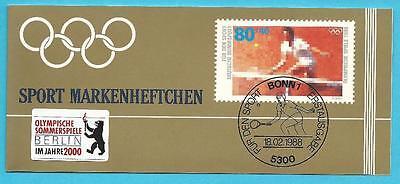 Deutschland aus 1991 gestempelt MH Sport - Tennis mit MiNr.1354 + Sonderstempel!