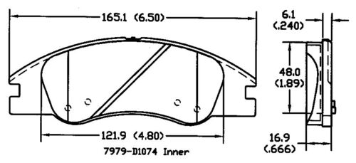 Disc Brake Pad Set Front OMNIPARTS 13057208