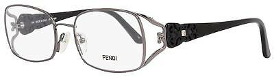 $337 FENDI Women ITALY BLACK EYEGLASSES FRAME GLASSES OPTICAL EYE LENS CASE FF