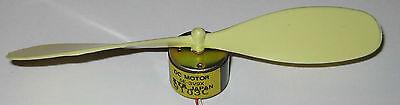 Kta Mini Hobby Motor With Propeller - 6 Vdc - 2100 Rpm - Dc Motor W 127 Mm Prop
