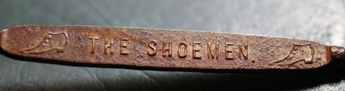 VINTAGE SHOE BUTTON HOOK ADVERTISING DEAN BROS TAUNTON MA THE SHOEMEN