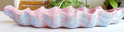 Royal Haeger Pottery Low Wave Bowl #357 Pink & Blue