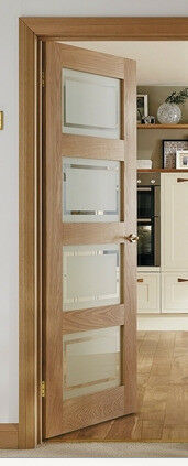 howdens 4 panel oak shaker glazed door in pinner london. Black Bedroom Furniture Sets. Home Design Ideas