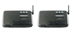 2 Station 3 Channel Home Office Wireless FM Voice Intercom System Charcoal Black