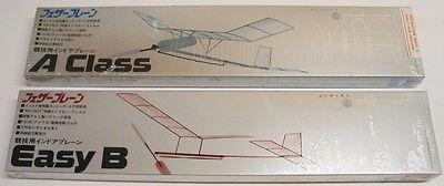 (2) Indoor Free Flight Balsa Model Kit - A Class - Easy B - Sealed