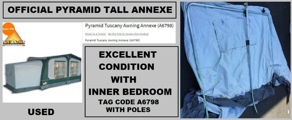 Caravan Awning Pyramid Tuscany Tall Bedroom Annexe Only ...