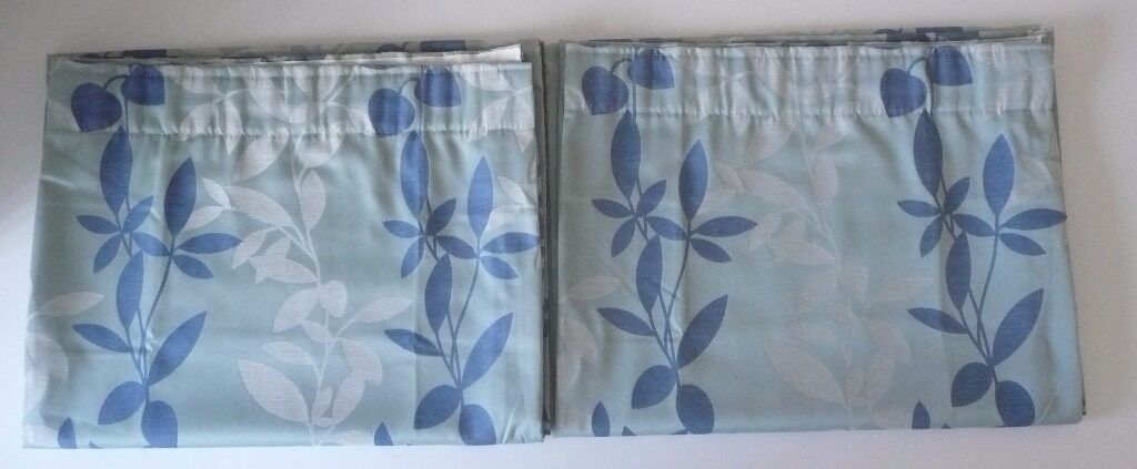 Pair of Montgomery Fully Lined 44 inch x 72 inch 100% Polyester ...