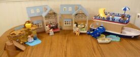 ✨Sylvanian Families Holiday with 8 figures, 2 cottages, riverboat and playground✨