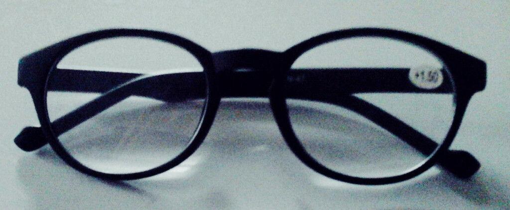 caa55aa65860 New Ladies Men Unisex Adult Retro Style Black Reading Glasses +1.50.