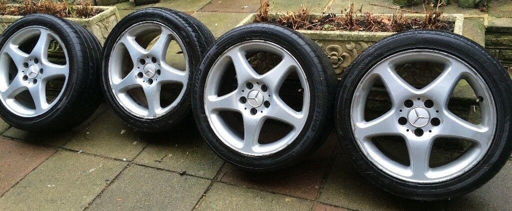 4 x R17 Mercedes Alloy Wheels 17 inch