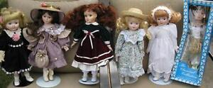 Porcelain Dolls x 6 ( Great for Christmas!)