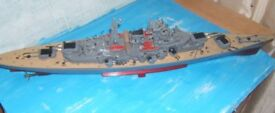 this boat sails well and easy to operate yust set the rudder and pres the front gun turrret