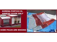 Caravan Porch Awning DOREMA Portico XL LARGE Porch Annexe Cover Excellent Condition.