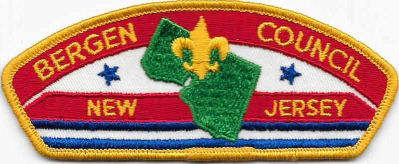 Bergen Council Strip Cloth Back CSP SAP Boy Scouts of America BSA