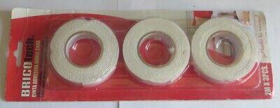 Ruban adhésif double face – 2 m x 3 pièces « BricoTech » POIDS avec emballage :