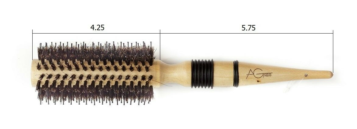 Agens - Natural Boar Bristle Round Hair Brush with wooden Ha