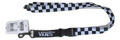 VANS OFF THE WALL LANYARD - BLACK / WHITE CHECKER