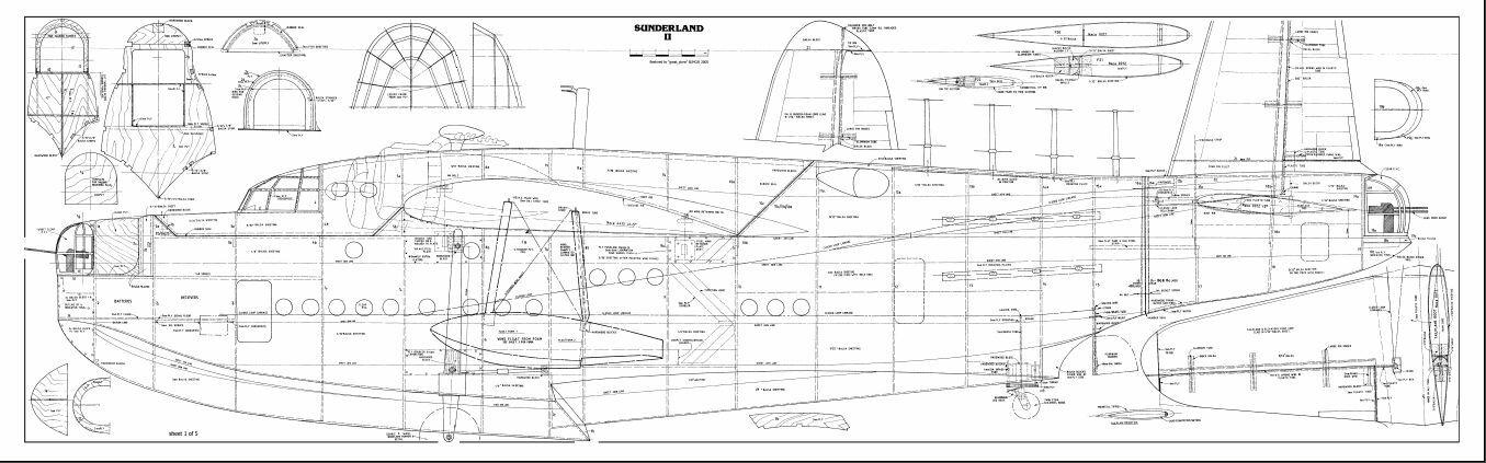 Short Sunderland II 136 inch flying boat RC AIrplane Digital Plans on CD • $8.95 - PicClick
