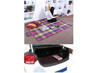 Songmics 195 x 150 cm Picnic Blanket Waterproof Backing GCM50K