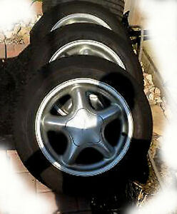 """1994 MUSTANG GT 16 """" MAG WHEELS WITH TIRES"""