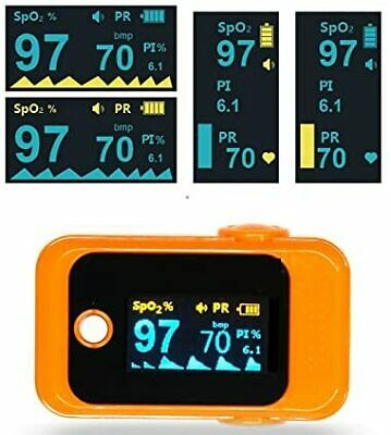 Fingertip Pulse Oximeter Blood Oxygen Saturation Spo2 Portable Oled Digital Dis