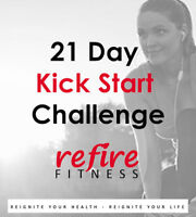 21 Day Kick Start Online Challenge with Refire Fitness