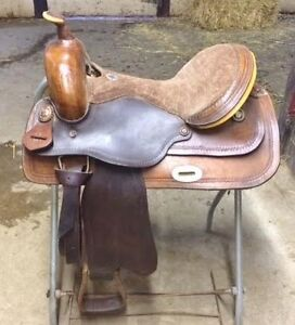 "18"" western saddle and equiptment"