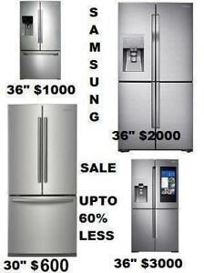 SAMSUNG REFRIGERATOR - 30 in, 36 in & more - Fridge stainless steel