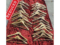 **REDUCED** Bundle of wooden clothes hangers
