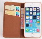 Flip leather case voor iphone 5 5S