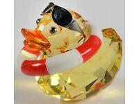 Genuine Swarovski Crystal Duck Collectable Sunny Sam..New in box!!