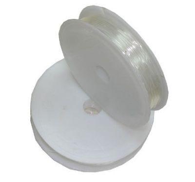 Faden ELASTISCHES SILIKON SCHMUCKFADEN 0,6mm Transparent Crystal BEST C134