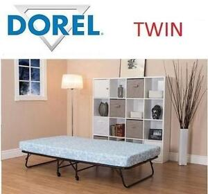 "NEW DOREL FOLDING COT GUEST BED 5"" W/ 5"" TWIN MATTRESS - FOLDING GUEST BED 102991353"