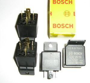 SPECIAL  4x  BOSCH  MINI  RELAY 12Volt 30Amps  5 pin (B/NEW)