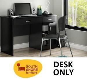 "NEW SOUTH SHORE WORK DESK BLACK - 109388603 - COMPUTER DESK - 47.25""x30.25""x18.75"""