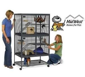 """NEW MIDWEST ANIMAL HABITAT W/ STAND 162 140755440 Double Unit, 36""""x 24""""X63"""" ferrets, chInchillas, rats, hedgehogs CAG..."""