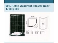 Low height shower cubicle for boat/small height room