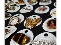 Vintage jewellery wholesale brooches necklaces earrings cufflinks etc
