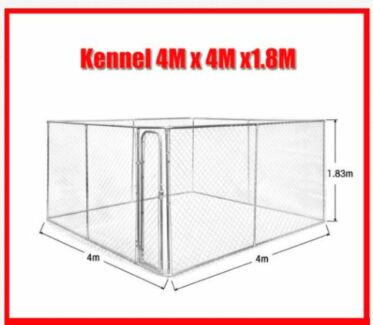 4M x 4M x 1.8M Dog Kennel Run Pet Enclosure Run Animal Fencing Welshpool Canning Area Preview