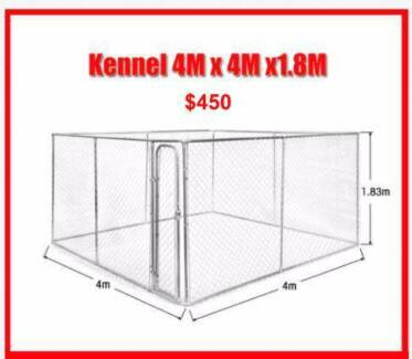 Large Dog Kennel Chain Link Dog Run Enclosure Exercise Pen Play P Welshpool Canning Area Preview