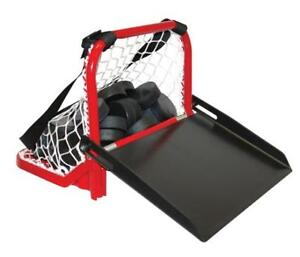 Hockey Puck Carrier Catcher Hockey Puck Bag Portable Hockey Sauce Kit Mini Hockey Net Pucks Goal Nets HOCKEY IS LIFE