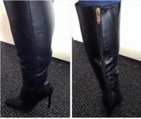 Size 3 black stiletto boots