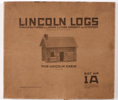 Vintage Lincoln Log Set Ebay