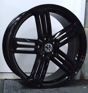 19 inch APEC R-5 WHEELS AND TYRES VW GOLF LIMITED STOCK BLACK BLACK
