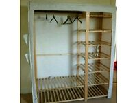 DOUBLE & SINGLE WOODEN CANVAS WARDROBES