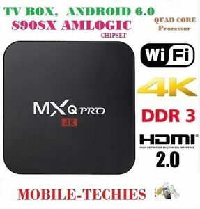 MXQ PRO ANDROID TV BOX 4K Ultra HD ($65 EACH GROUP OF THREE)