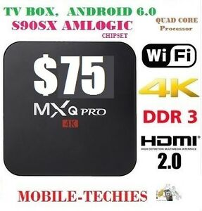 ANDROID TV BOX (s905x ANDROID 6.0) MXQ Pro 4K Ultra HD