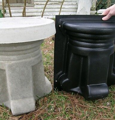 CEMENT CONCRETE PEDESTAL & BENCH LEG MOLD, 1 MOLD on Rummage